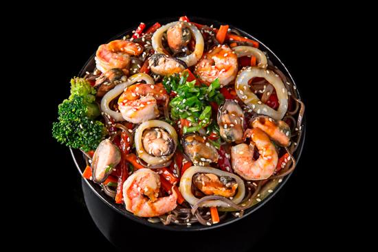 Seafood Soba Noodles
