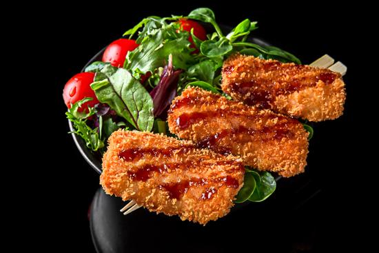 Salmon Tempura Salad